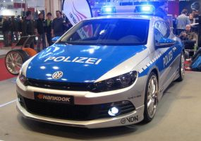 VW Scirocco German Police Car by toyonda