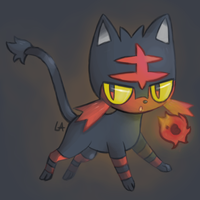 Fire Starter Litten by LugiaAngel