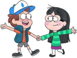 Dipper and Candy Dancing by nintendomaximus