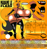 Madame Le Flare - 2015 Ref Sheet by MrPr1993