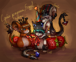 Happy birthday, Froggi! by Yuyaly