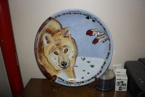 Wolf Plate Inspired  by Woxys- done! by ponygirl74
