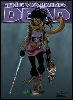 Michonne Colored by likwidlead