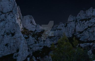 Calanque Night by CliveAnthony
