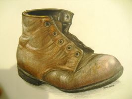 old boot by chockoladien