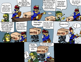 Capt. Falcon Meets Snake by PharoahArch