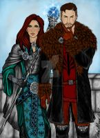 The Templar and his Sister by MacedonianMuse