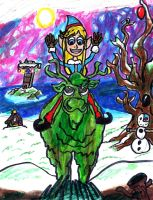 Green Faced Reindeer by SonicClone