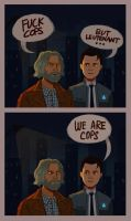 connor and hank by warholsdog