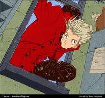 Trigun: Peek-a-boo, WIP by EdenEvergreen