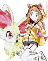Pokemon X Y - Serena  by shinamvec