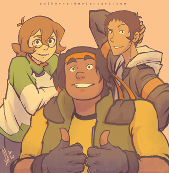 Pidge, Hunk and Lance by SolKorra