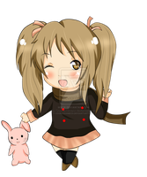 AT with a bunny :D by Cookiexhimexx