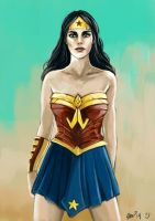 Wonder Woman with Speed Paint Video by minoanoa