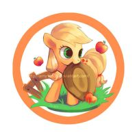 Filly badge series - Applejack by amy30535