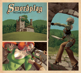 Swordplay: The Lonely Outpost COMING SOON! by comixmill