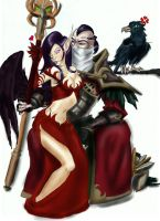 Morgana and Swain: becuz he loves poultry by Lillith-Fushicho
