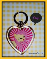 MLP: Fluttershy 02 Keychain by ObjectionSoS