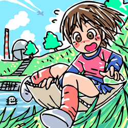 Grass skiing by oi-chan