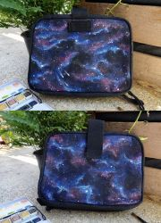 Galaxy pouch by atlantisdesetoiles