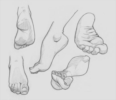Feet Sketches by risingson16