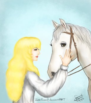 Oscar with her horse by InterRose