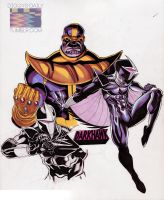 Thanos/ Darkhawk by RonAckins