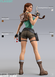 Lara Croft Outfit Guide: Classic Backside by FredelsStuff