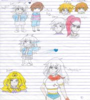 Humanized Genderbend Undertale Characters by costa17