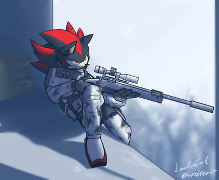Winter Sniper Shadow by oLEEDUEOLo
