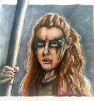 Lexa from the 100 by Cakecatlady