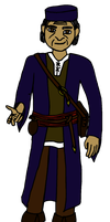 DnD character: Scholary master by Ikhael