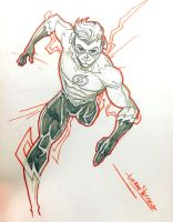 Wally West Flash Commission by LucianoVecchio