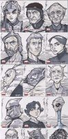 SW Galaxy Sketch Cards AOTC by Hodges-Art