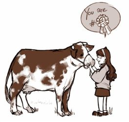 Mabel and cow-san by Zieberich