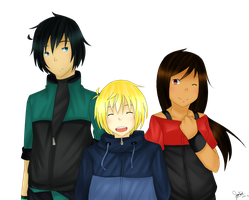 UTAU Trio by MoriTau