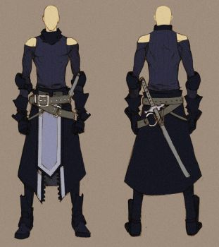 [SOLD] Black Swordman - Concept by MizaelTengu
