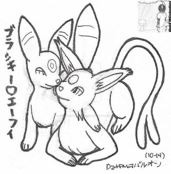 10-14 Umbreon and Espeon by DatFMCobalion