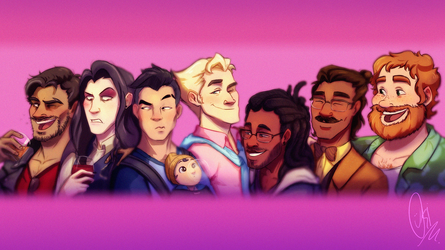 Dream Daddy: A Dad Dating Simulator - Fanart :p by ScribbleNetty