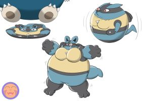 :COM: Lucario Flattened, Inflated, and Balled by Arrowny18