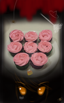 These are my so called Halloween cupcakes: Roses
