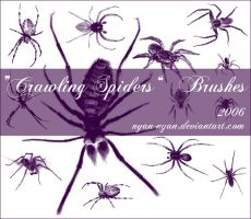 Crawling Spiders Brushes by nyan-nyan
