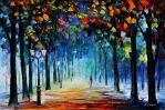 The Colors Of Winter by Leonid Afremov by Leonidafremov