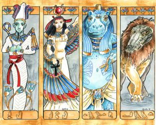 Gods Bookmarks Set 3 by Hbruton