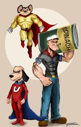 Old Heroes Popeye Underdog and Mighty Mouse by AveryMoneco