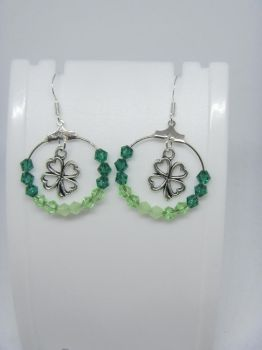 Clover earrings by IngaleCreations