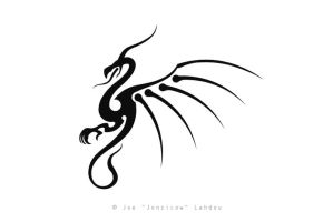 Another Tribal Dragon by JONZICOW
