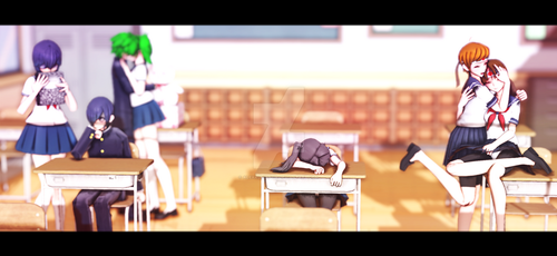 valentine's day in the school by AlexaUrie7u7r