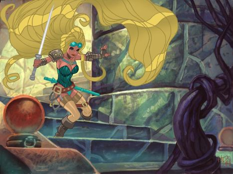 Rapunzel and the Temple of Doom! by Ben-Abernathy