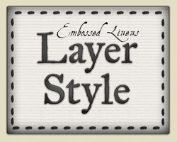 Embossed Linens Layer Style by Spiral-0ut